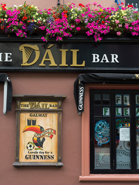 View of cafe Dail Bar, Galway City, County Galway, Ireland