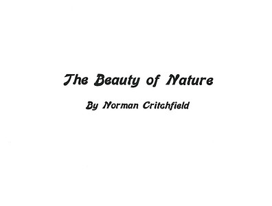 Beauty of Nature Book $12.50