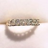 1.17ctw French Cut Diamond 7-Stone Band 4