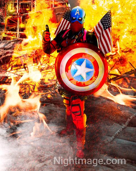 DeadPool as Captain America