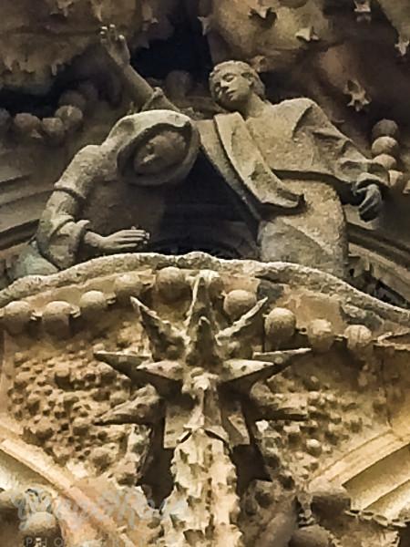 Sculpture over the doorway at the front of Sagrada Familia