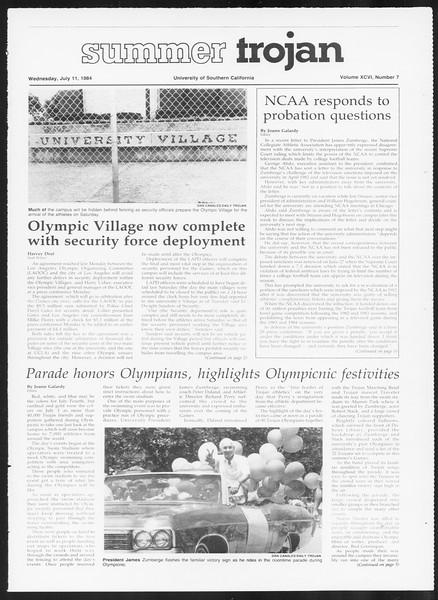 Summer Trojan, Vol. 96, No. 7, July 11, 1984