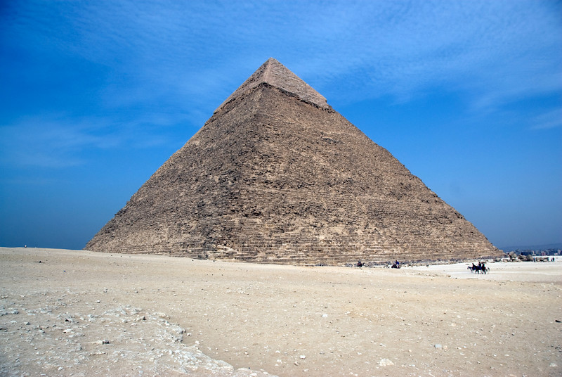The Pyramid against clear, blue sky  - Giza, Egypt