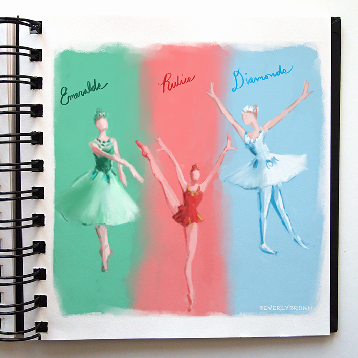 Sketchbook: Balanchine's Jewels by Beverly Brown