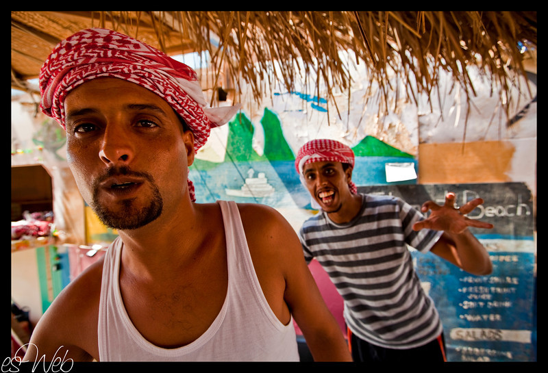 Gadi his brother and friends taking a break in  beer-swer ,Sinai, Egypt