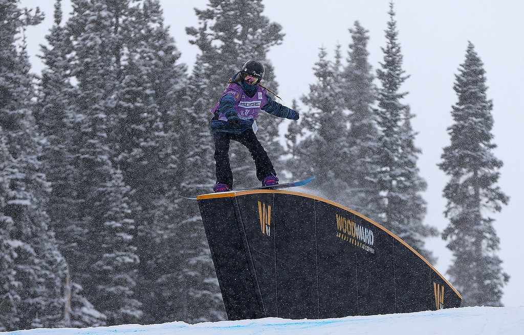 . Henna Ikola of Finland competes during qualifying for the women\'s FIS Snowboard Slopestyle World Cup at U.S. Snowboarding and Freeskiing Grand Prix on December 20, 2013 in Copper Mountain, Colorado.  (Photo by Mike Ehrmann/Getty Images)