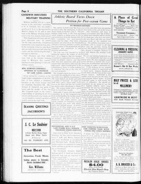 The Southern California Trojan, Vol. 8, No. 46, December 13, 1916