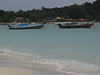 Longtail boats at Pattaya Beach.