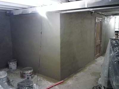 I covered all the walls in the basement at: 622 Egypt rd. with cement.