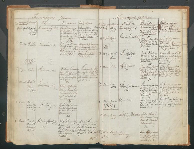 1886 fædd Guðrún dóttir Ágústínu Ben og Jóh. Péturs Söebech - 20. mars