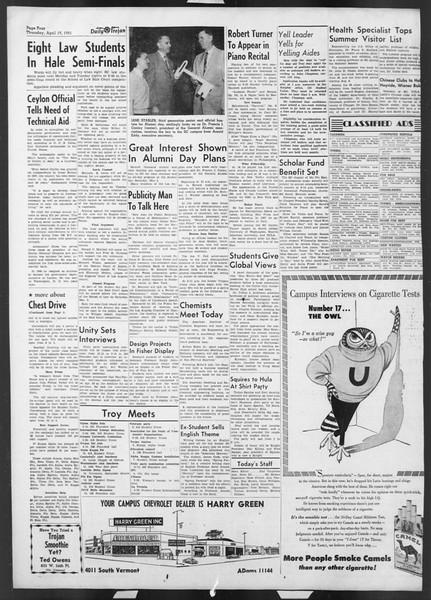 Daily Trojan, Vol. 42, No. 112, April 19, 1951