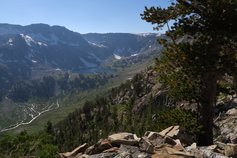 Lake Solitude from the Paintbrush Divide trail