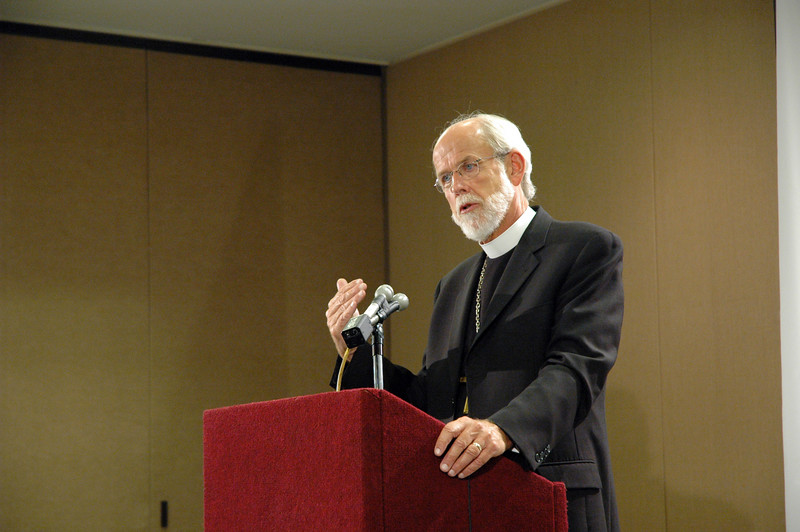Presiding Bishop Mark S. Hanson at Mondays news conference