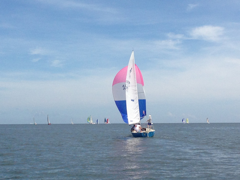 7/14 Leukemia Cup  J/24 going downwind.