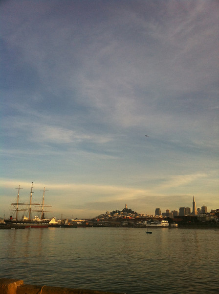 A typical beautiful San Francisco pre-sunset