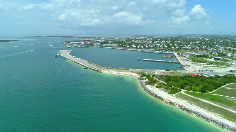 Aerial shot Key West Florida b-roll 4k