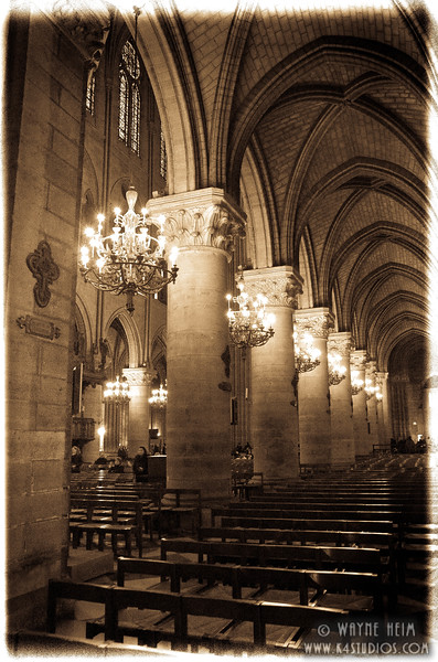 Interior of Notre Dame     Photography by Wayne Heim