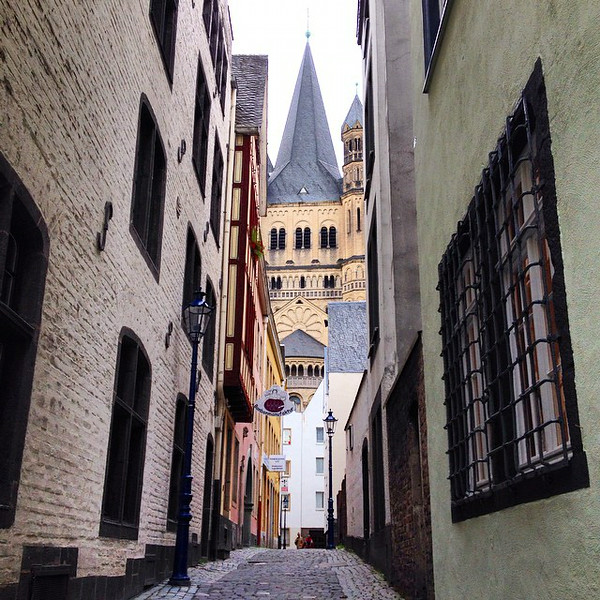 Back street shadows, Old Town Cologne (Köln). A city with almost 2000 years worth of history, a few ups and downs. #Germany via Instagram http://ift.tt/1CqU7iD
