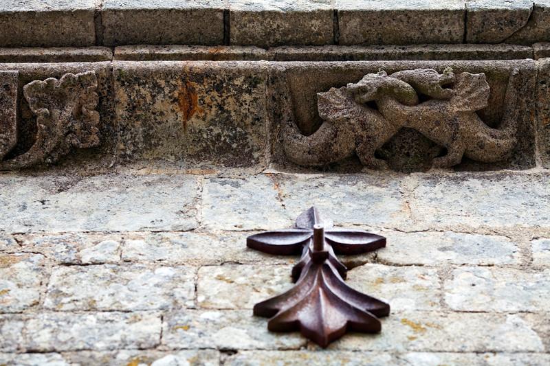 Architectonic detail, La Trinite chapel, town of Plumergat, departement of Morbihan, Brittany, France