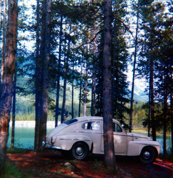 My 1961 Volvo PV-544 at Two Jack Lake near Banff, Alberta, Canada - 1975