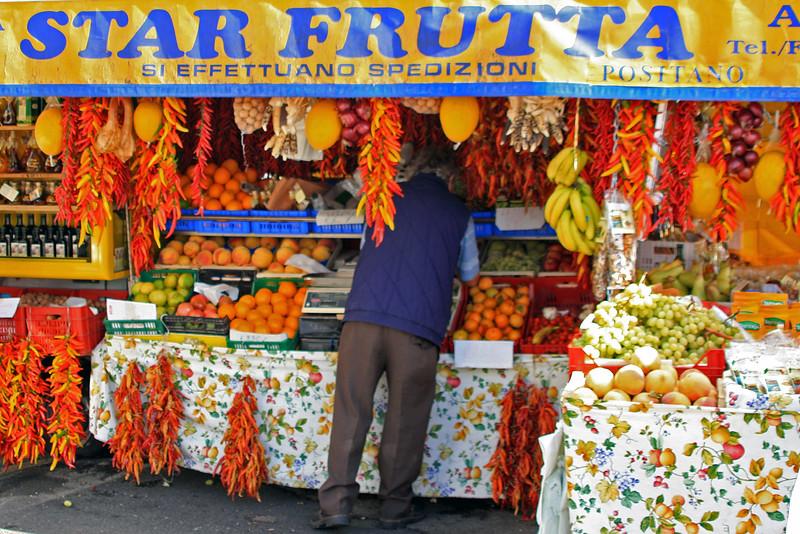 Vendor along the Amalfi Coast