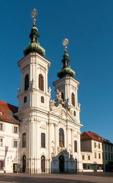 Baroque Mariahilf Convent and Parish Church (Mariahilferkirche) in Graz, Styria (Austria)