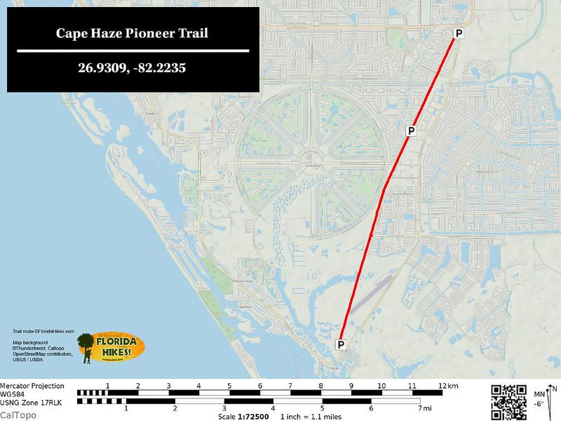 Cape Haze Pioneer Trail Map