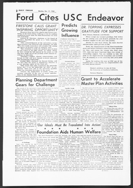 Daily Trojan, Vol. 54, No. 55, December 17, 1962