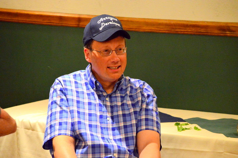 "Mark listening to the ""Mark's Ledge"" Story."