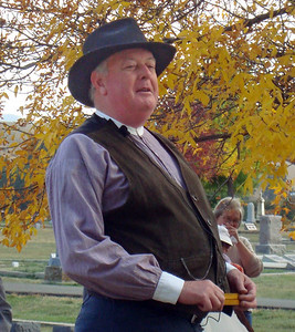 """The elder Mr. Lown -- that would be William """"Billy"""" Lown -- was depicted by Randy Bender.  Mr. Lown and his family were long-time merchants in downtown Spearfish."""