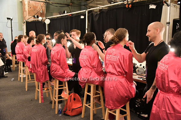 Dennis Basso Fashion show  -behind the scenes, at Moynihan station in Manhattan on 9-15-15