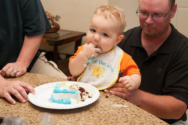 Logan at Doug and Mia's (5-27-12)
