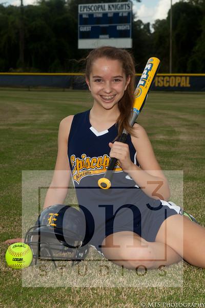 Middle School Softball team and individual photos