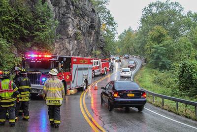 9-6-17 MVA Rollover, Bear Mountain Bridge Road, Photos By Bob Rimm