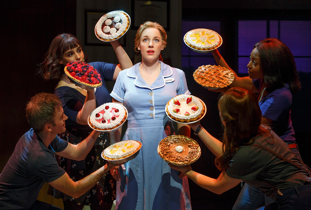 ". Pies are paramount in the musical ""Waitress.\"" The national tour of the Broadway musical is at the Connor Palace at Playhouse Square through Nov. 5. For more information, visit www.playhousesquare.org. (Joan Marcus)"