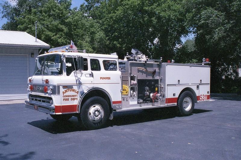 Antonia FPD MO - Engine 5311 - 1981 Ford C 800-Pierce 1000-750 E-0722 (1).jpg