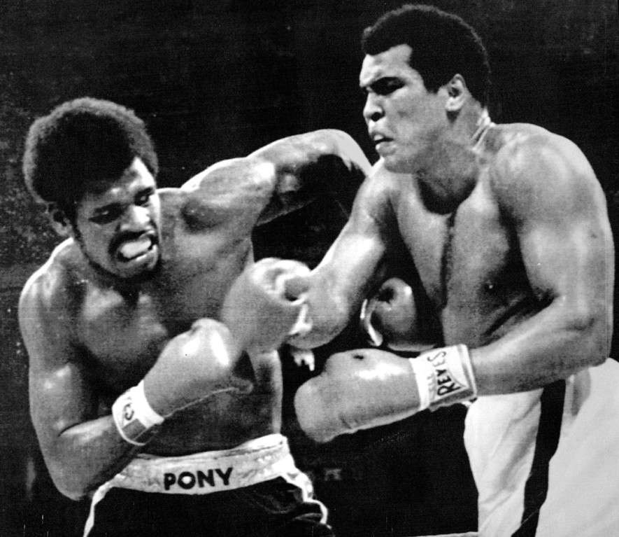 . Muhammad All and Leon Spinks exchange punches during their WBA heavyweight title bout at the Superdome in New Orleans Friday night Ali became the first man to win the heavyweight crown times by defeating Spinks with a 15-round unanimous decision. 1978  Credit: AP Laserphoto