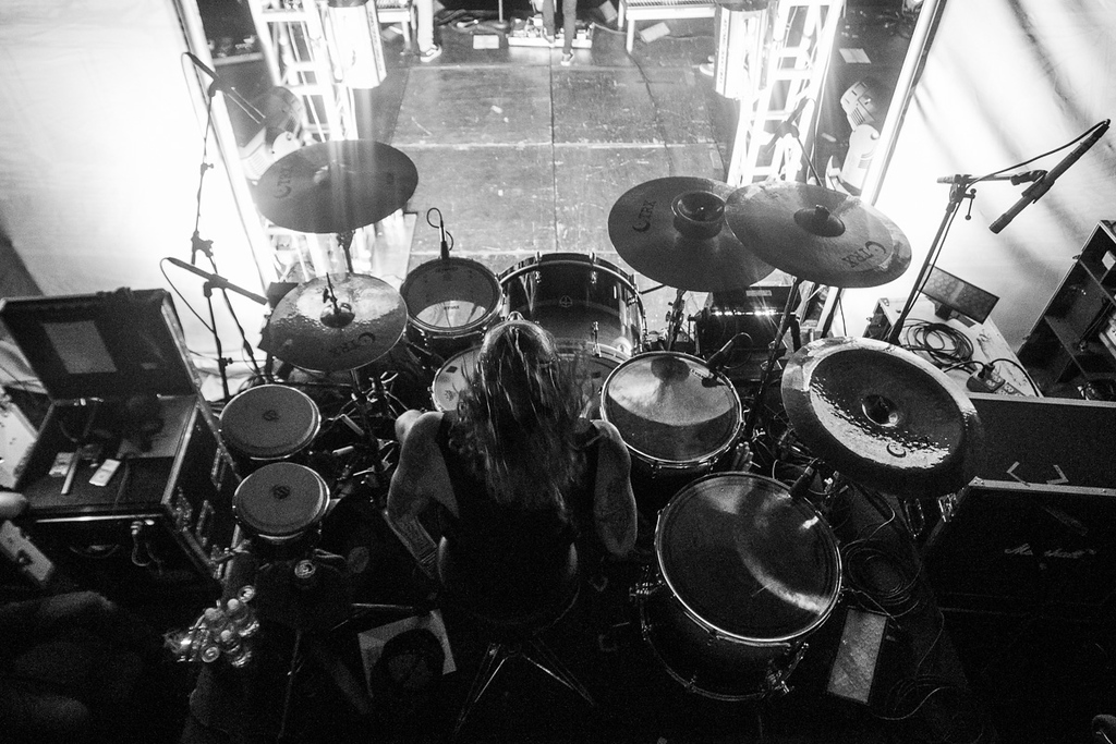 Mike Fuentes' drumming rig
