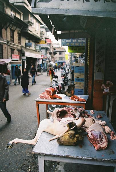 Local butcher in Thamel, Kathmandu