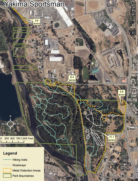 Yakima Sportsman State Park (Metal Detection Areas)