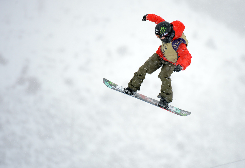 . VAIL, CO. - MARCH 1: Peetu Piiroinen is in action during the men\'s slopestyle final of Burton U.S. Open. March 1, 2013. Vail, Colorado. (Photo By Hyoung Chang/The Denver Post)