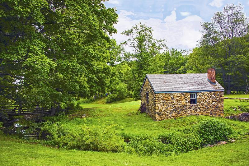 Blacksmith Shop Summer Landscape Scene