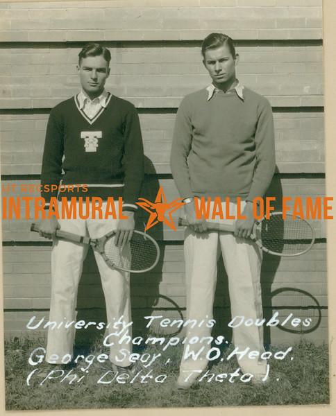TENNIS University Doubles Champions  Phi Delta Theta  George Seay & W. O. Head