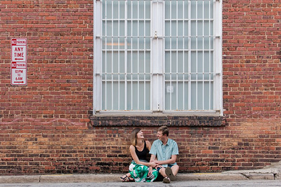 Colleen & Evan | A Raleigh Warehouse District Engagement Full of Sweetness & Laughter