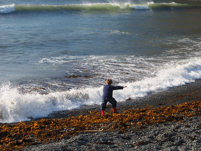 Boy at Makara Beach (2)