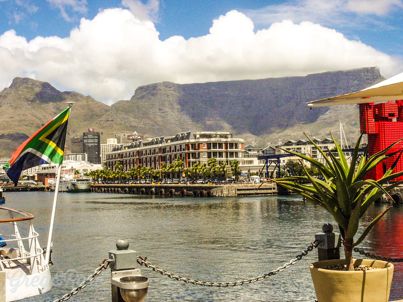 Cape Grace Hotel with Table Mountain behind