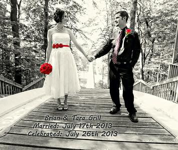 Tara & Brian 13x11 Wedding Album