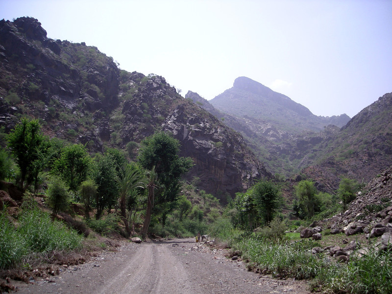 in Wadi Surdad, on route to Manakha