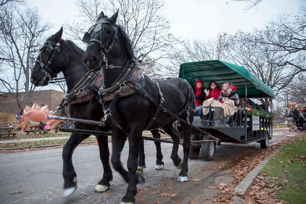. Horse-drawn carriage rides are among the free attractions for Holiday Circlefest Dec. 2 and 3 in University Circle, where many of the museums will be open without charge on Dec. 3. For more information, visit www.universitycircle.org/events/2017/12/02/holiday-circlefest. (Courtesy University Circle)