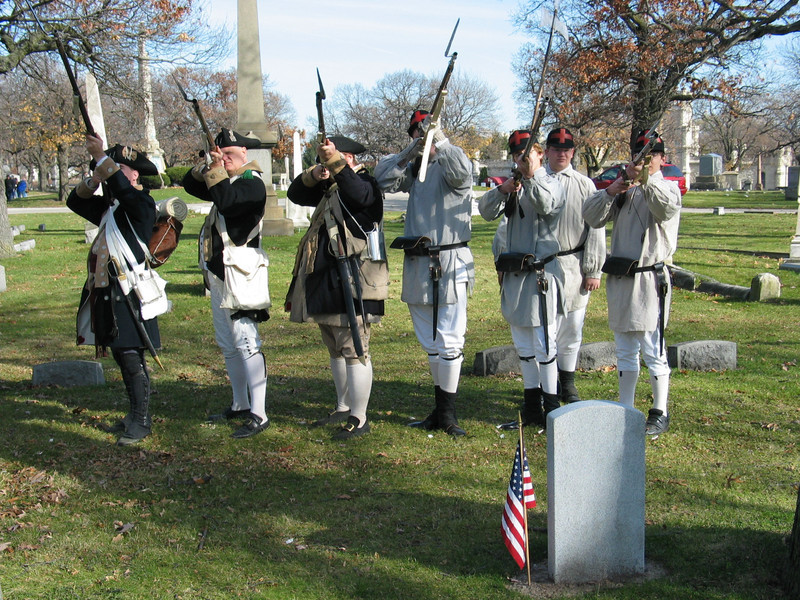 William Duvol. Revolutionary War. Military salute